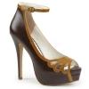 BELLA-31 Dark Brown/Maple Faux Leather